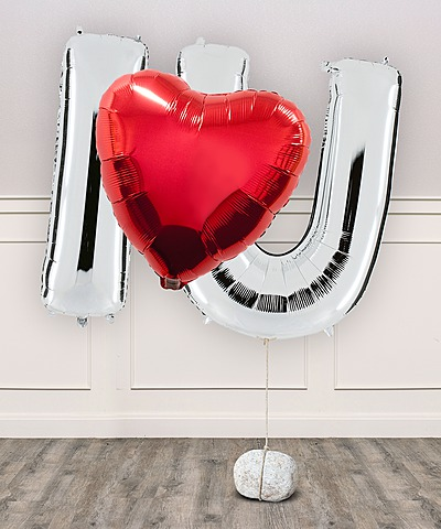 Ballon-Set I Love U und Love-Teddy