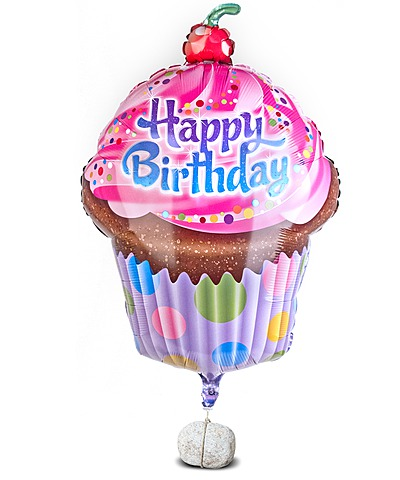 Riesenballon Happy Birthday Cupcake